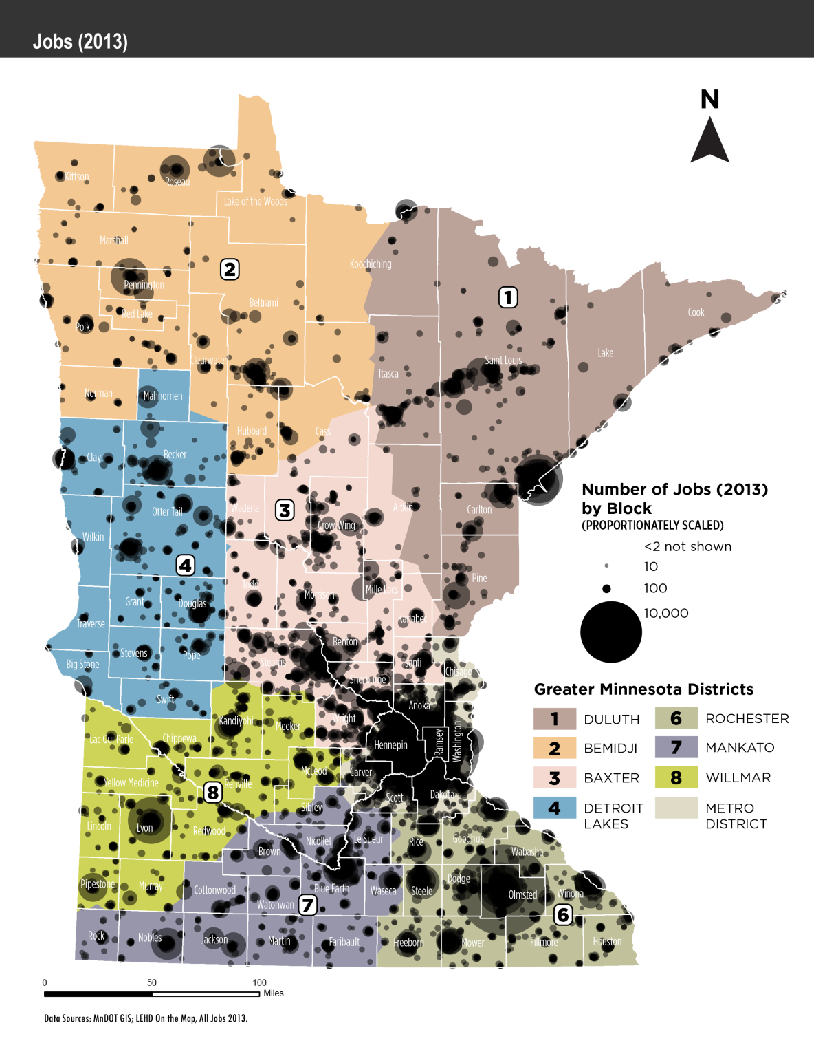 Map of Statewide Employment density by census block