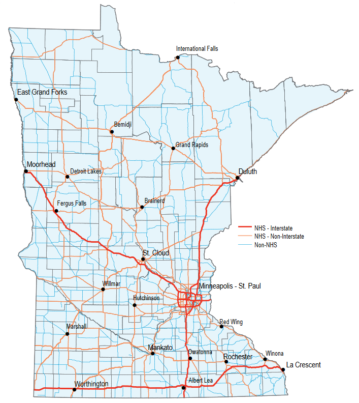 Minnesota's State Highway Network